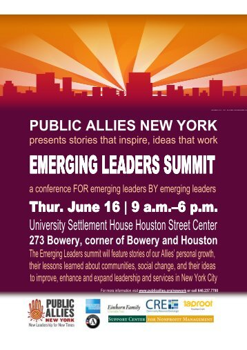 EMERGING LEADERS SUMMI EMERGING ... - Public Allies