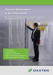 Thermal optimisation in the Data Centre - Daxten