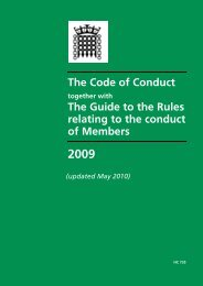 The Code of Conduct The Guide to the Rules relating to the conduct ...