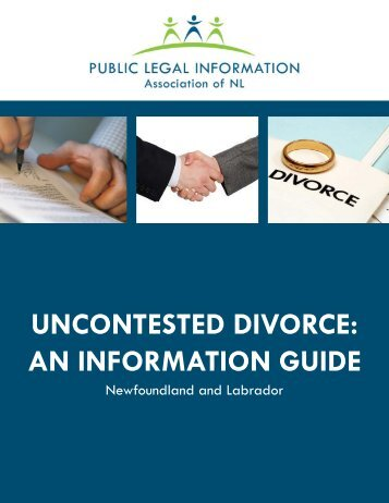 Uncontested Divorce - Public Legal Information » Association of NL