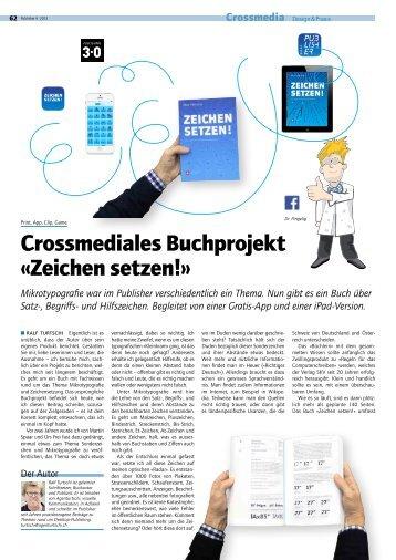 Crossmediales Buchprojekt «Zeichen setzen!» - Publisher