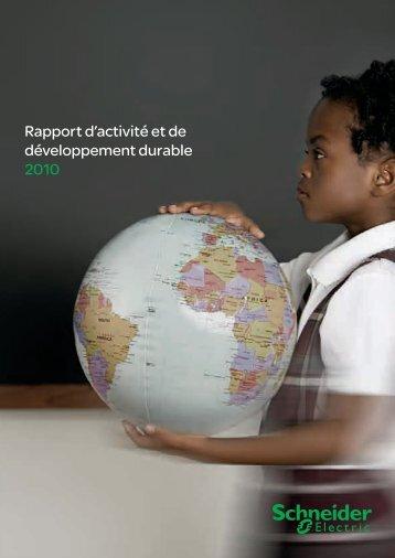 Rapport d'activité et de développement durable 2010 - PublishPaper