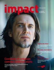 impact 2/2011 [PDF] - Publisuisse SA