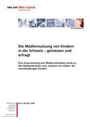 Kinderstudie der SRG SSR 2004 [PDF] - Publisuisse SA