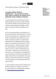 Le guide médias 2010 de publisuisse : un recueil des princi-paux ...
