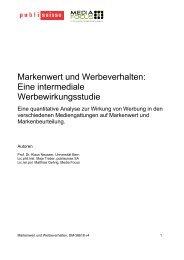 Forschungsbericht - Publisuisse SA