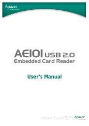 User's Manual - Apacer