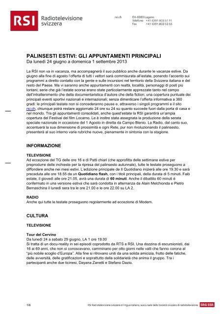 palinsesto estivo rsi [pdf]