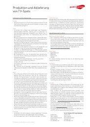 Factsheet Produktion und Ablieferung von TV-Spots [PDF]