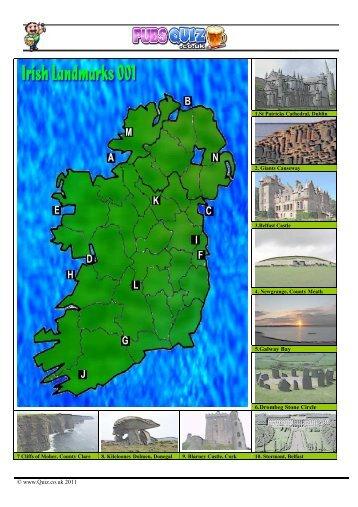 www.Quiz.co.uk 2011 5.Galway Bay 6.Drombeg Stone ... - Pubs Quiz