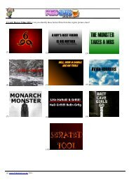 (001). Can you identify these horror films from the cryptic ... - Pubs Quiz