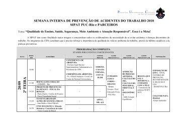 SIPAT 2010-Programação Completa - PUC-Rio