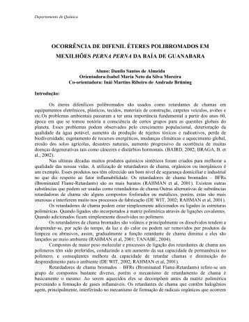 OCORRÊNCIA DE DIFENIL ÉTERES POLIBROMADOS ... - PUC-Rio