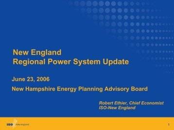 ISO New England - New Hampshire Public Utilities Commission