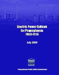 2009 Report - Pennsylvania Public Utility Commission