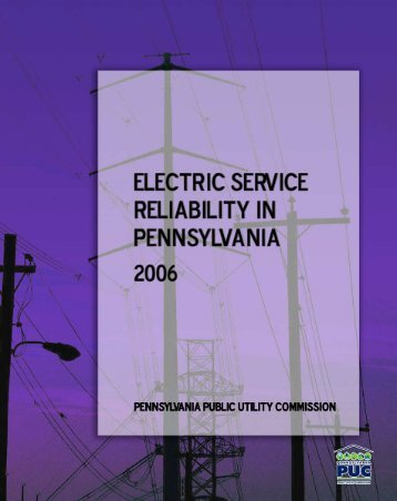 Reliability Report -- 1999 - Pennsylvania Public Utility Commission