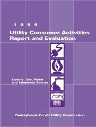 Utility Consumer Activities Report and Evaluation - Pennsylvania ...
