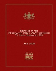 Draft House Resolution 506 Report - Pennsylvania Public Utility ...