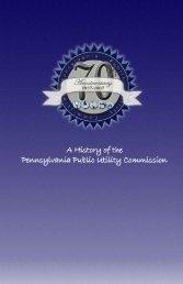 The PUC's History - Pennsylvania Public Utility Commission