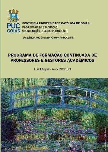 programa de formação continuada de professores e gestores ... - Ucg