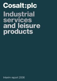 Industrial services and leisure products - Cosalt