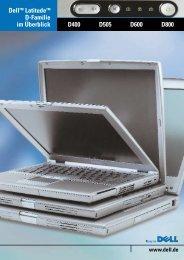 Dell Latitude D Notebooks im Vergleich 0 800/979 33 55