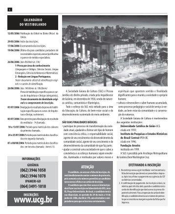 Guia do Vestibular 2006-2 - Ucg