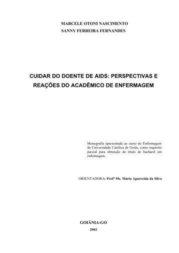CUIDAR DO DOENTE DE AIDS: PERSPECTIVAS E ... - Ucg