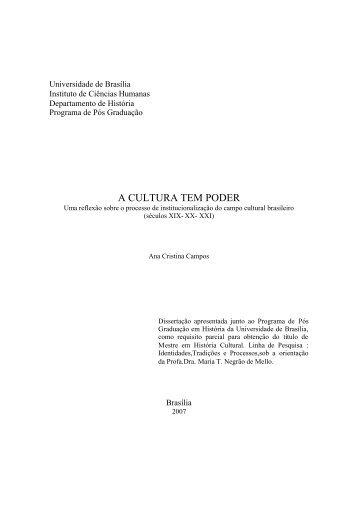 A CULTURA TEM PODER - Repositório Institucional da UnB