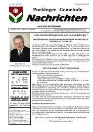 Gemeindenachrichten 8-2004 (0 bytes) - Gemeinde Pucking