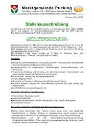 Stellenausschreibung Amtsleiter (85 KB) - .PDF - Gemeinde Pucking