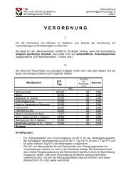 Miet- und Tarifordnung für das Spektrum - Gemeinde Pucking