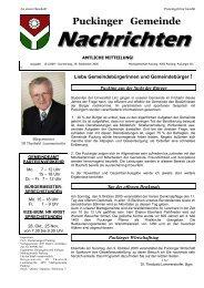 Gemeindenachrichten 10/2005 (0 bytes) - Gemeinde Pucking