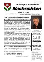 Gemeindenachrichten 10/2007 (0 bytes) - Gemeinde Pucking