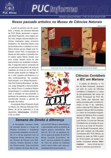 Nosso passado artístico no Museu de Ciências ... - PUC Minas