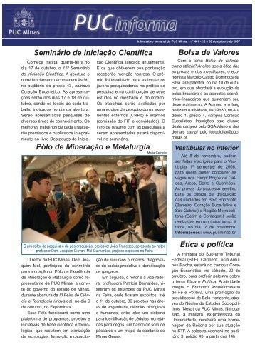 15 a 20 de outubro de 2007 - PUC Minas