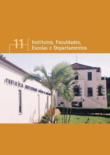 Institutos, Faculdades, Escolas e Departamentos - PUC Minas