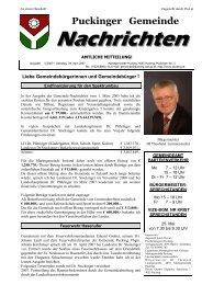 Gemeindenachrichten 5/2007 (0 bytes) - Gemeinde Pucking