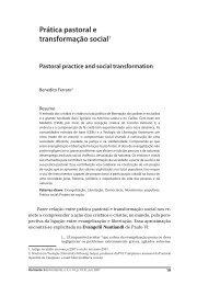 Prática pastoral e transformação social - PUC Minas
