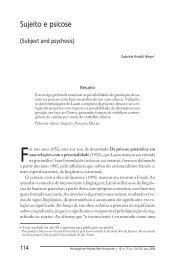 Sujeito e psicose - PUC Minas