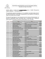 pré-selecionados - PUC Minas