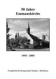 50 Jahre Emmauskirche 1955 - Evangelische Kirchengemeinde ...