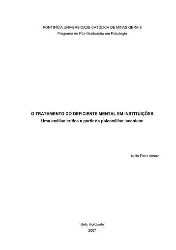 Dissertação Versão Final 2007 07 17 - PUC Minas
