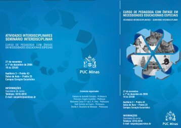 Folder Seminário Interdisciplinar 2007.cdr - PUC Minas