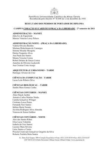 Reconhecida pelo Decreto Nº 45.046 de 12 de ... - PUC Minas