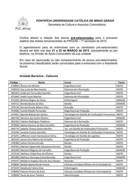 Barreiros - PUC Minas