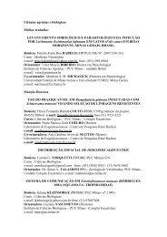 Ciências agrárias e biológicas Melhor trabalho ... - PUC Minas