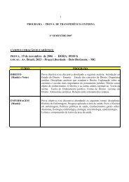 PROVA: 19 de novembro de 2006 – HORA: 09:00 h ... - PUC Minas