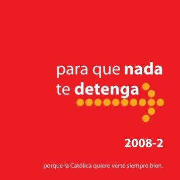 para que nada te detenga - Pontificia Universidad Católica del Perú