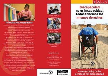 Discapacidad no es incapacidad, todos tenemos los mismos derechos